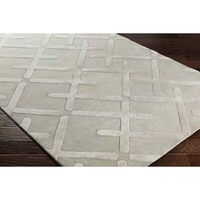 Vazquez Hand-Tufted Neutral/Gray Area Rug Rug Size: Rectangle 5 x 76