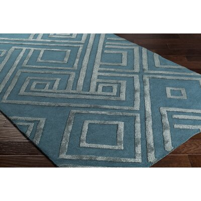 Vazquez Hand-Tufted Blue Area Rug Rug Size: Rectangle 2 x 3
