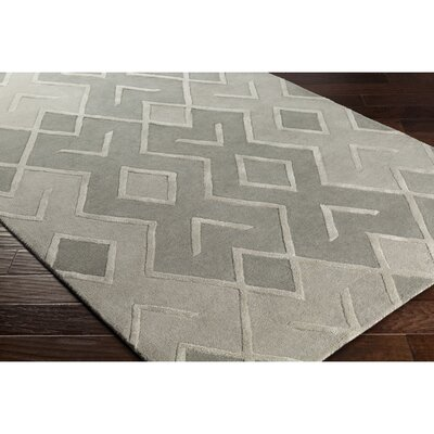 Vazquez Modern Hand-Tufted Gray Area Rug Rug Size: Rectangle 5 x 76