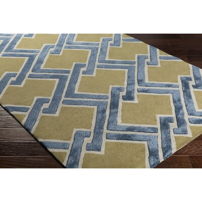 Vazquez Hand-Tufted Green/Gray Area Rug Rug Size: Rectangle 5 x 76