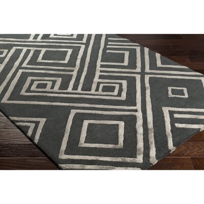 Vazquez Hand-Tufted Rectangle Gray Area Rug Rug Size: 2 x 3