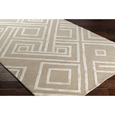 Vazquez Hand-Tufted Neutral Area Rug Rug Size: 8 x 10