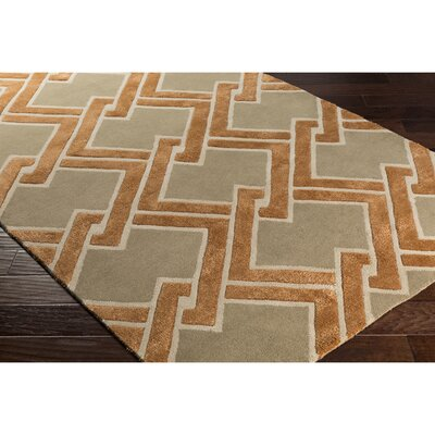Dustin Hand-Tufted Brown/Neutral Area Rug Rug Size: 2 x 3