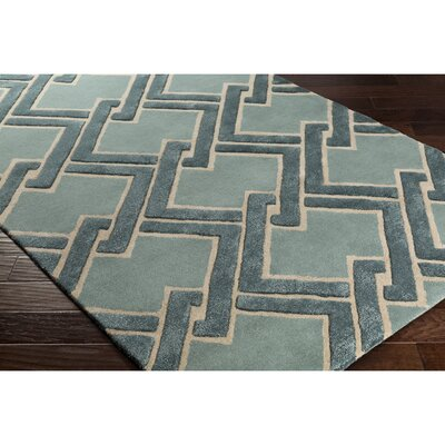 Vazquez Hand-Tufted Green/Neutral Area Rug Rug Size: Rectangle 5 x 76