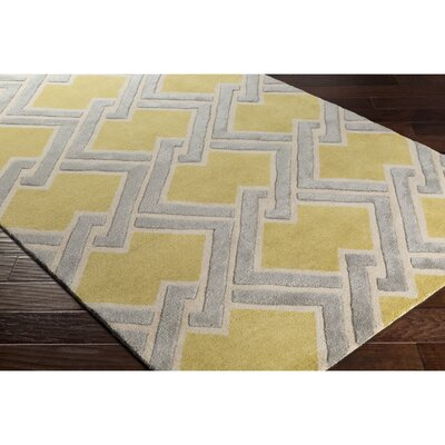 Vazquez Hand-Tufted Yellow/Neutral Area Rug Rug Size: Rectangle 2 x 3