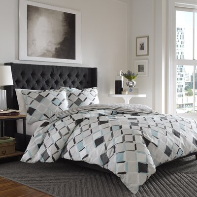 Cansler Reversible Duvet Cover Set Size: Full/Queen
