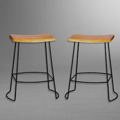 Cosmas 25 Bar Stool Finish: Natural Mango