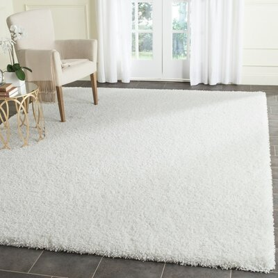 Brickner White Area Rug Rug Size: Rectangle 4 x 6
