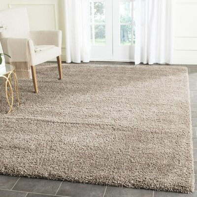 Brickner Taupe Area Rug Rug Size: Rectangle 4 x 6