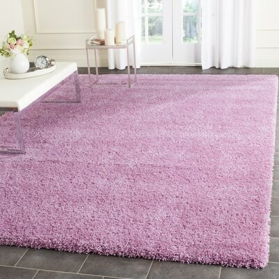 Vandoren Pink Area Rug Rug Size: Rectangle 9 x 12