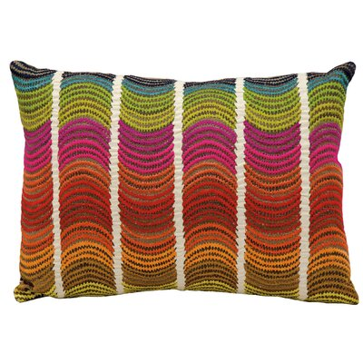 Michelle Red/Pink/Green Lumbar Pillow