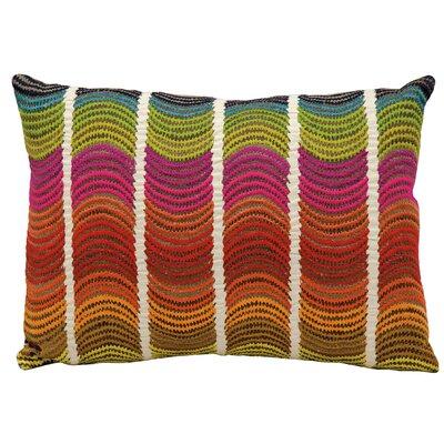 Michelle Red/Pink/Green Lumbar Pillow