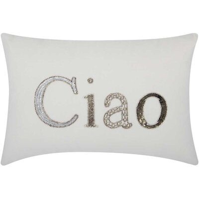 Mikonos Ciao Cotton Duck Lumbar Pillow
