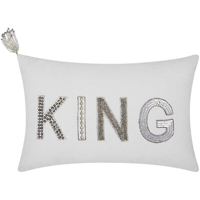 Mikonos King Cotton Duck Lumbar Pillow