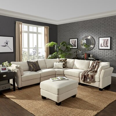 Alkmene Sectional Collection Upholstery: White