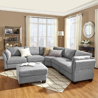 Alkmene Sectional Collection Upholstery: Gray