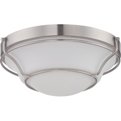Heiman 1-Light Flush Mount Finish: Aged Bronze