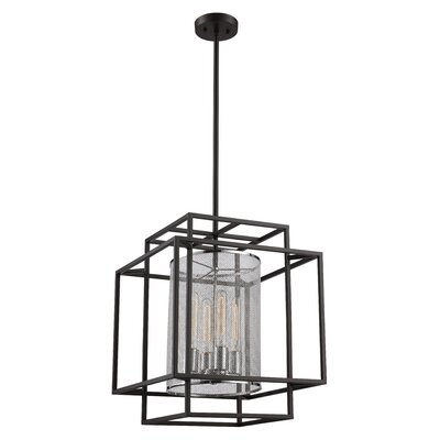 Yeary 4-Light Foyer Pendant Finish: Black/Polished Chrome