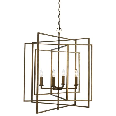 Yarnell 4-Light Foyer Pendant Finish: Antique Gold