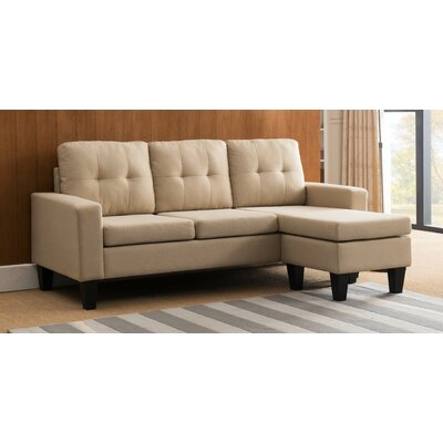 Briley Reversible Sectional Upholstery: Light Brown