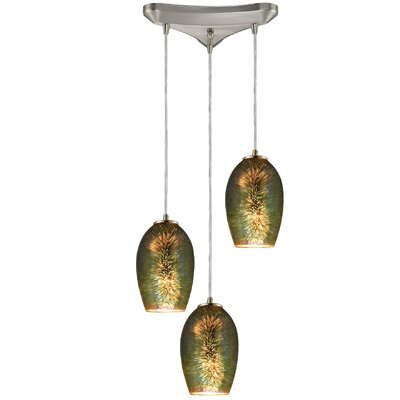 Burks 3-Light Cascade Pendant
