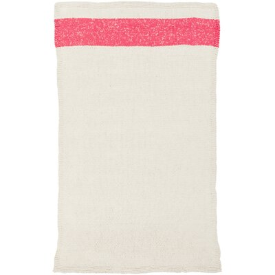 Veasley Hand-Woven Pink/Beige Area Rug Rug Size: Rectangle 8 x 10