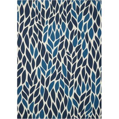 Cadet Blue Indoor/Outdoor Area Rug Rug Size: 53 x 75