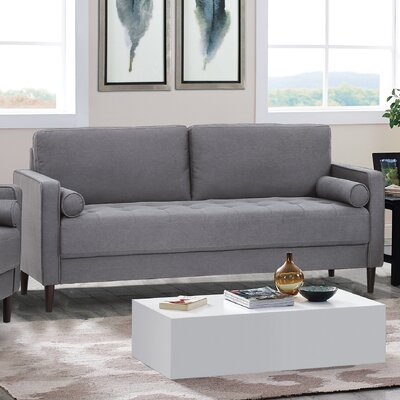 Garren Loveseat Upholstery: Heather Gray