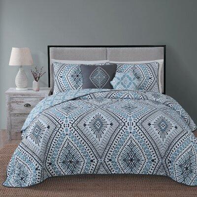Causby 5 Piece Quilt Set Size: Queen, Color: Blue