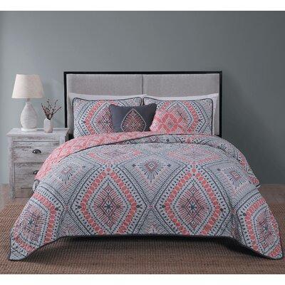 Causby 5 Piece Quilt Set Size: King, Color: Coral