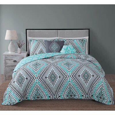 Causby 5 Piece Quilt Set Size: Queen, Color: Mint