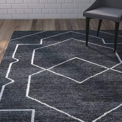 Aracely Hand Woven Charcoal/Ivory Area Rug Rug Size: Rectangle 8 x 11