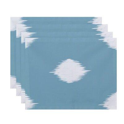 Urbina Holiday Ikat Print Rectangle Placemat Color: Light Blue