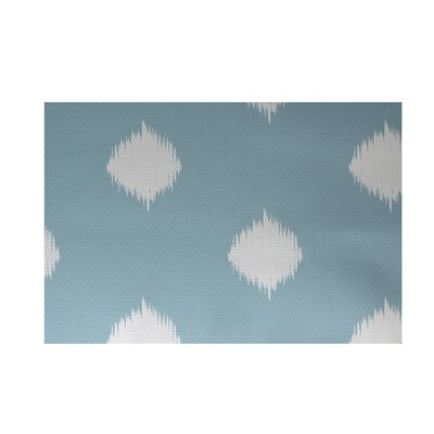 Balam Decorative Holiday Ikat Print Light Blue Indoor/Outdoor Area Rug Rug Size: 3 x 5