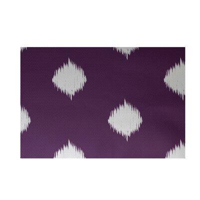 Balam Decorative Holiday Ikat Print Purple Indoor/Outdoor Area Rug Rug Size: 2 x 3