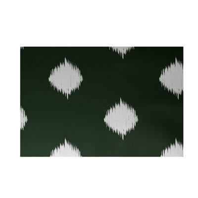 Balam Decorative Holiday Ikat Print Dark Green Indoor/Outdoor Area Rug Rug Size: 2 x 3