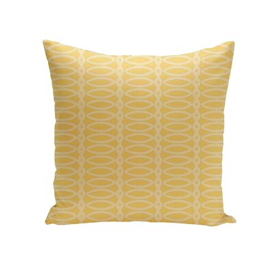 Giancarlo Geometric Decorative Outdoor Pillow Color: Lemon Soft Lemon, Size: 18