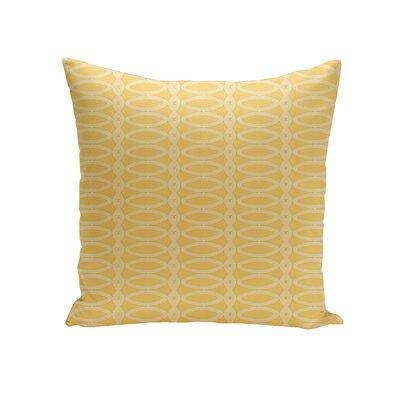 Giancarlo Geometric Decorative Outdoor Pillow Color: Lemon Soft Lemon, Size: 18 H x 18 W x 1 D