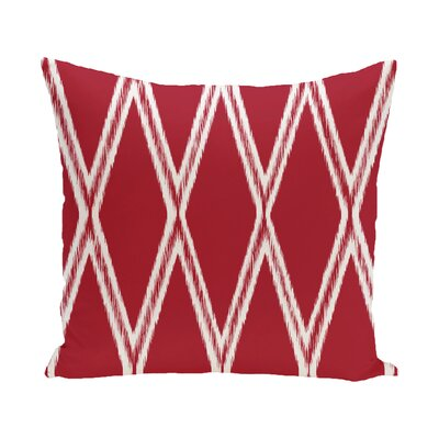 Beta Geometric Print Outdoor Pillow Color: Formula One, Size: 18 H x 18 W x 1 D