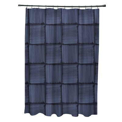 Urijah Geometric Print Shower Curtain Color: Blue