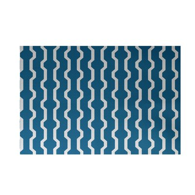 Severt Decorative Holiday Geometric Print Turquoise Indoor/Outdoor Area Rug Rug Size: 4 x 6