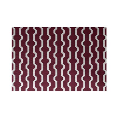 Severt Decorative Holiday Geometric Print Indoor/Outdoor Rug Cranberry Burgundy Indoor/Outdoor Area Rug Rug Size: 2 x 3