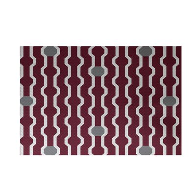 Uresti Decorative Holiday Geometric Print Cranberry Burgundy Indoor/Outdoor Area Rug Rug Size: Rectangle 2 x 3