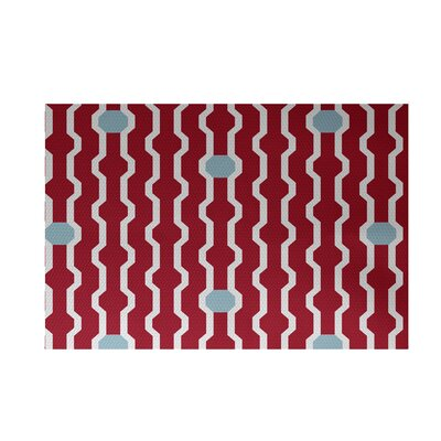 Severt Decorative Holiday Geometric Print Red Indoor/Outdoor Area Rug Rug Size: 4 x 6