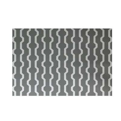Uresti Decorative Holiday Geometric Print Gray Indoor/Outdoor Area Rug Rug Size: Rectangle 3' x 5'