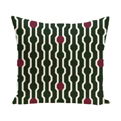 Uresti Decorative Holiday Geometric Print Square Throw Pillow Size: 26 H x 26 W, Color: Dark Green
