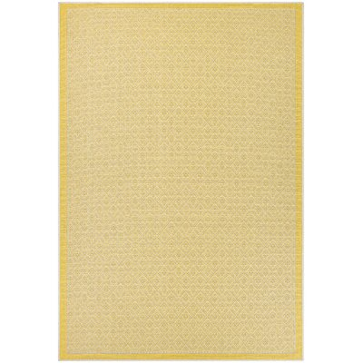 Shackelford Yellow Indoor/Outdoor Area Rug Rug Size: 39 x 55