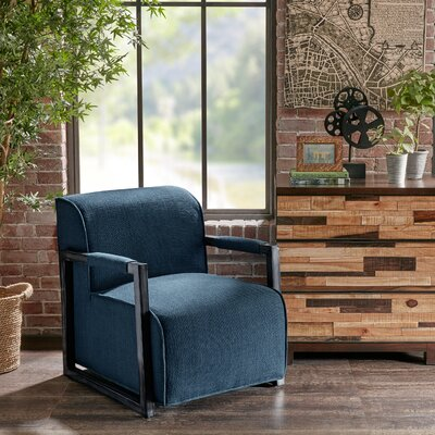 Cavins Arm Chair Upholstery Color: Blue