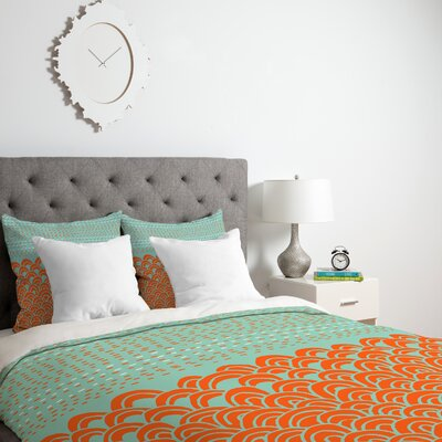 Shadrick Infinite Lightweight Tidal Duvet Cover Size: King, Fabric: Lightweight