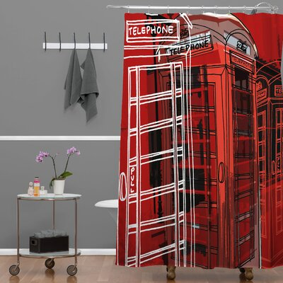 Shanahan Phone Box Shower Curtain